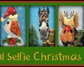 Animal Selfie Christmas Postcards Set Of 20