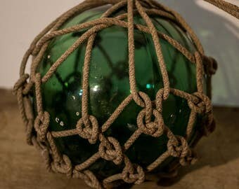 Antique Hand Made Japanese Glass Float Buoy Rare