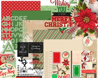 christmas shopping - digital scrapbooking kit