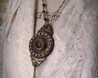 Handmade Vintage Assemblage Necklace Statement Necklace Gypsy Necklace Antique Hardware Steampunk Altered Jewelry Vintage Altered Necklace