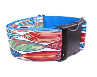 Dog Collar for Boy - Wide Dog Collar - XX Large Dog Collar - 2 Inch Dog Collar - Blue Dog Collar  - Cute Dog Collar - Custom Dog Collar