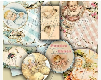 SALE BEBE collage Digital Images -printable download file-
