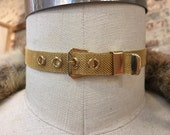 Vintage gold mesh belt choker necklace