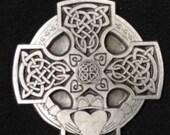 Celtic Cross with Claddagh Irish Love Token