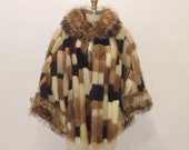 Reserved - Vintage 1960s Multi Color Patchwork Mink - Raccoon Fur Stole | Winkleman's