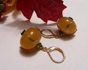 Orange Fall Earrings Autumn Earrings Halloween Jewelry Harvest Earrings SRAJD