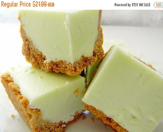 Sweet 16 SALE Julie's Fudge - KEY LIME Pie w/Graham Cracker Crust - Over One Pound