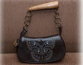 Vintage rustic bold uniq handbag for women
