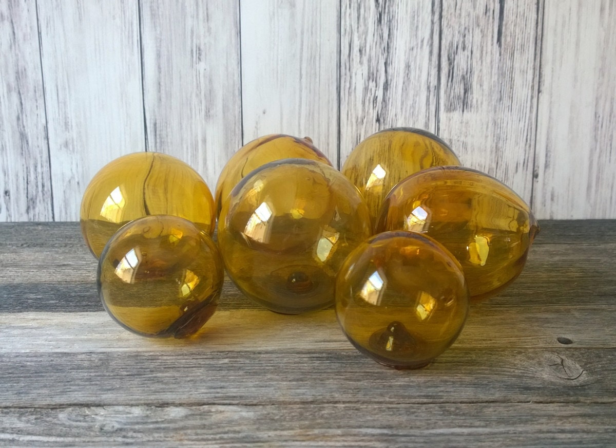 Glass balls fishing floats decorative by theoceanblueco