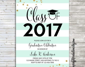 Hats off to the Grad graduation party announcement - digital file