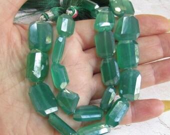 25% Off SALE Mystic Emerald Green Onyx Nugget Beads, Sparkling Silver Mystic Aqua Aura