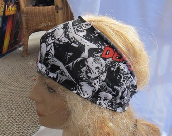 The Walking Dead Runner Style Headband, Stretch Headband, Runner Headband, Workout Headband,