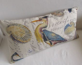 BLUE HERON pillow cover ready to ship  ooak