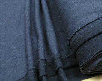 Sweatshirt fleece fabric uni blue heather 0.54yd (0,5m) 003271