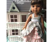 """NEW RELEASE: Dolly Tea Party Dress for 14 1/2"""" Dolls PDF Pattern"""