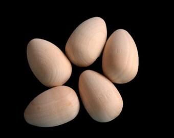 Unfinished Wood Egg, Wood Robins Egg, Nest Filler, Bowl Filler, Wooden Egg, Easter Basket, Easter DIY, Natural Easter Egg, Easter Decoration