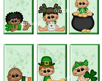 PRINTED Saint Patrick's Day  Children Tags for Scrapbooking, Collage, Gift Tags