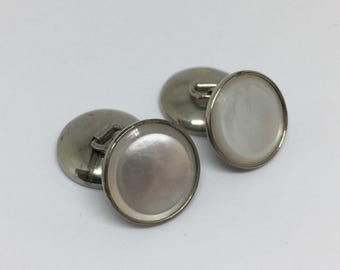 Silver Tone Mother of Pearl