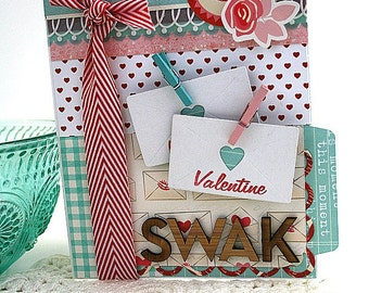 valentine mail card-SWAK-sealed with a KISS greeting