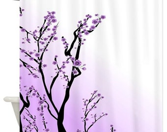 Shower Curtains Art Shower Curtain Bathroom Design 38 purple lilac digital art L.Dumas