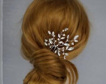 Crystal Hair Pin,Bridal Headpiece, Wedding Hairpin , Gold  Headpieces, Wedding hair pieces,Rhinestone Headpiece, gold hair pin