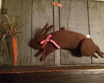 Primitive Rabbit Fester Doll and Carrot