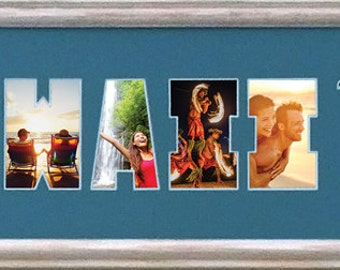 Hawaii Custom Photo Collage in 8 x 26 (matboard only)