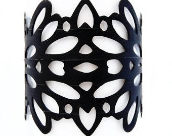 Mirror - Recycled Bicycle Inner Tube Bracelet
