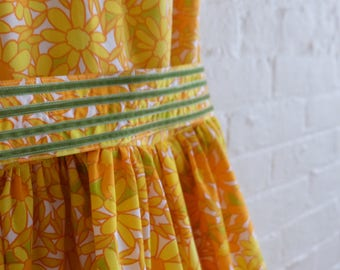 Floral Tea Dress  { Tangerine Dream   } size 4