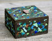 Cloisonne Enamel and Brass Hinged Matchbox