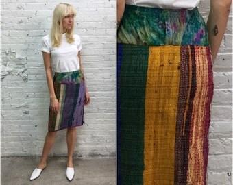 Vintage Red Bandana Print Circle Skirt Novelty Print Skirt