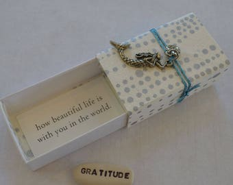 Mermaid Message Box with Gratitude Token and Gift Bag