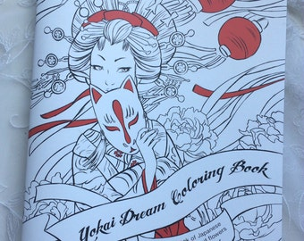 Yokai Dream Adult Coloring Book Japanese Monsters