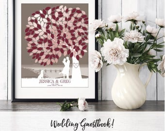 Wedding Guestbook Alternative, Wedding Tree, Custom Guestbook Tree, Rustic Wedding, Guestbook Idea, Wedding Tree / W-T05-1PS HH3 06P