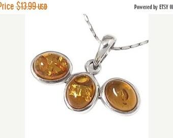 SALE Amber Pendant, Genuine Honey Baltic Amber Pendant, Sterling Silver, Handmade in Bali, SKU 4831