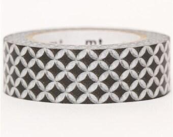174396 mt Washi Masking Tape deco tape with circle grey