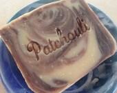 6 patchouli soaps & 2 unscented sea salt soaps (new vegan formula)