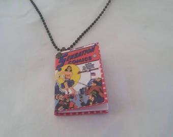Mini Wonder Woman Comic Book Pendant