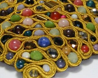 Colorful Necklace, Soutache Necklace, Bib Necklace, Colorful Soutache, Statement Necklace, Soutache Jewelry, Soutache bib, Statement bib