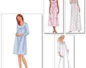 Butterick 6838 Nightgown Pattern Size XS, S, M Misses Miss Petite