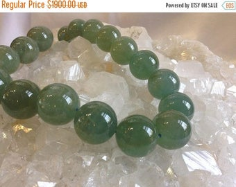 50% Mega Sale 20mm Rare Green Aquamarine Round Beads - One Of A Kind