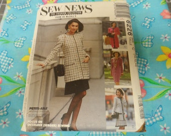 McCalls 6226 Sew News Dress, Cardigan Jacket, and Skirt Pattern Size C 10-12-14 Uncut