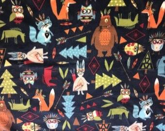 Woodland Creatures Fleece Fabric