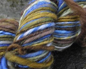 Handspun yarn, handpainted  wool yarn, bulky  weight, multiple skeins available-Hebrides