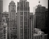 Chicago Tribune Tower Building Original Black and White Photograph Home Decor Gift Icon