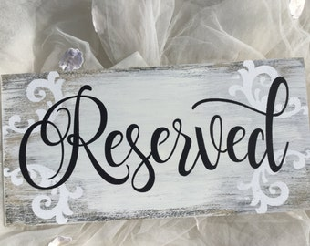 Reserved sign, Wedding sign,  Rustic  sign,  Reserved, Kerri Art