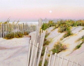 Moon Over 32nd St. Dune Crossing