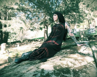 Hell Couture Pentagram Maxi Dress