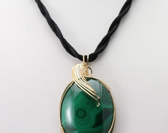 Malachite Pendant. Listing 496879625
