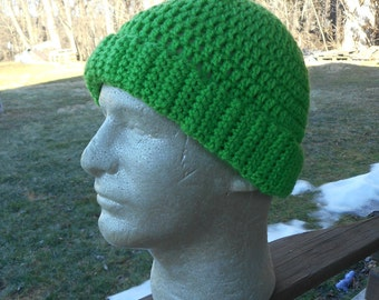 Green Crocheted March for Science Hat